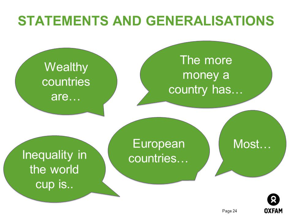 STATEMENTS AND GENERALISATIONS
