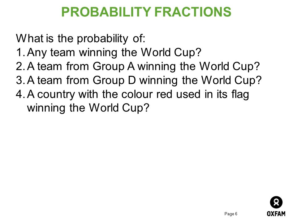 PROBABILITY FRACTIONS