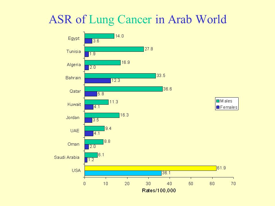 ASR of Lung Cancer in Arab World