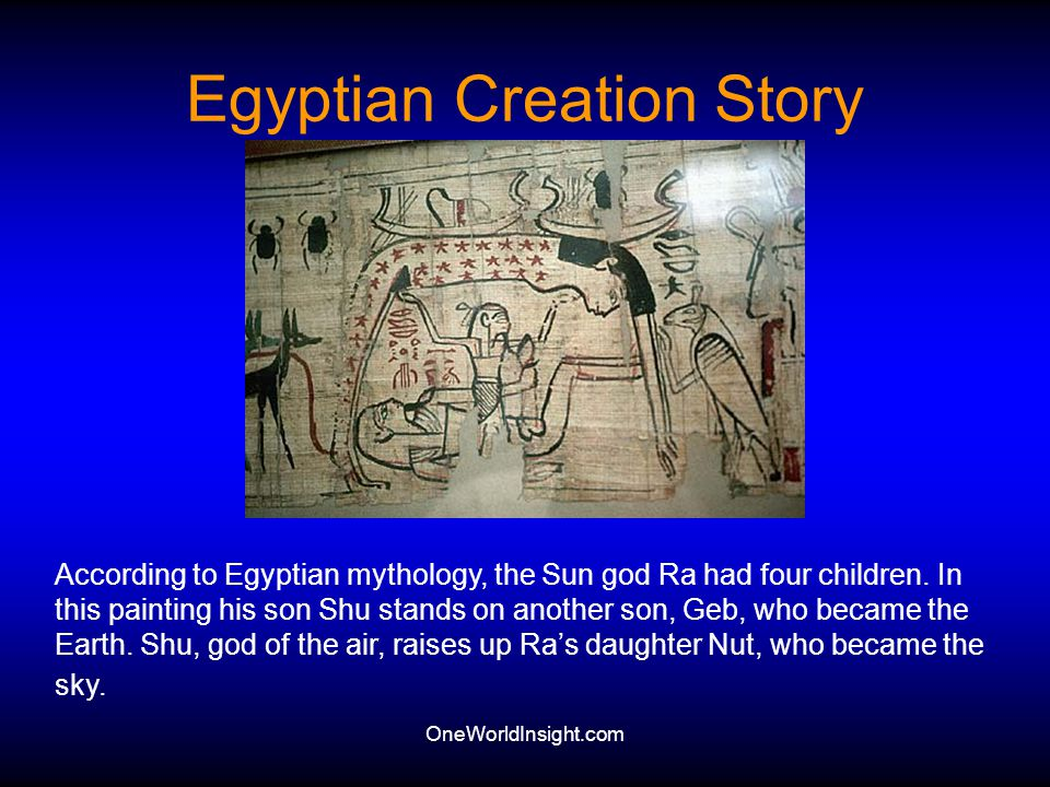 Egyptian Creation Story