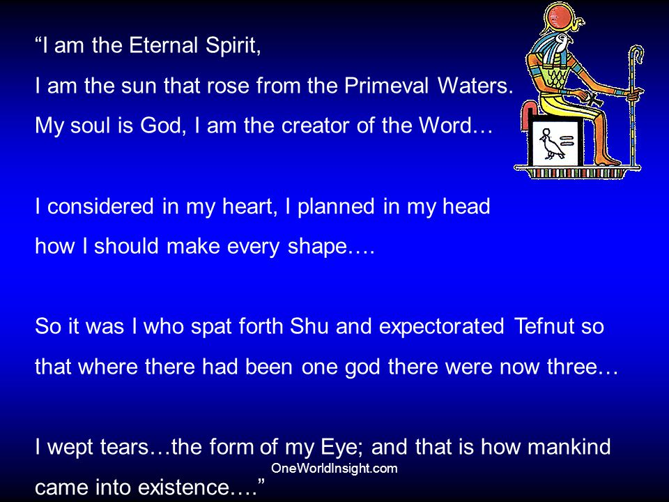 I am the Eternal Spirit,