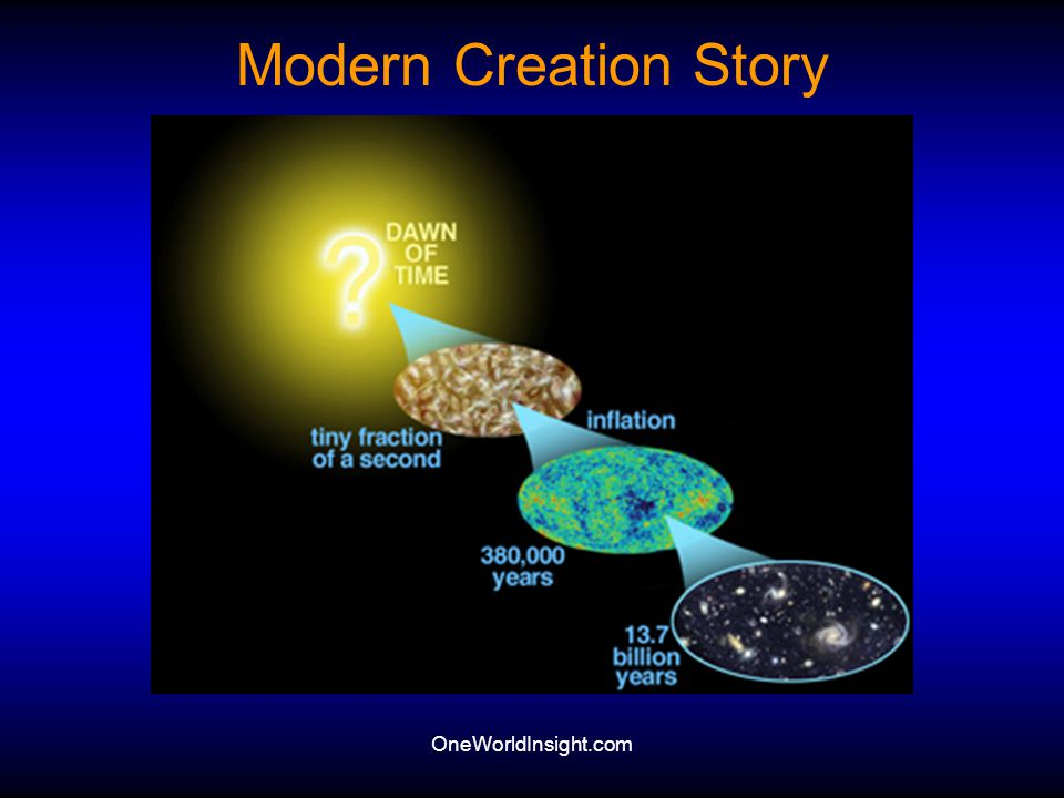 Modern Creation Story OneWorldInsight.com