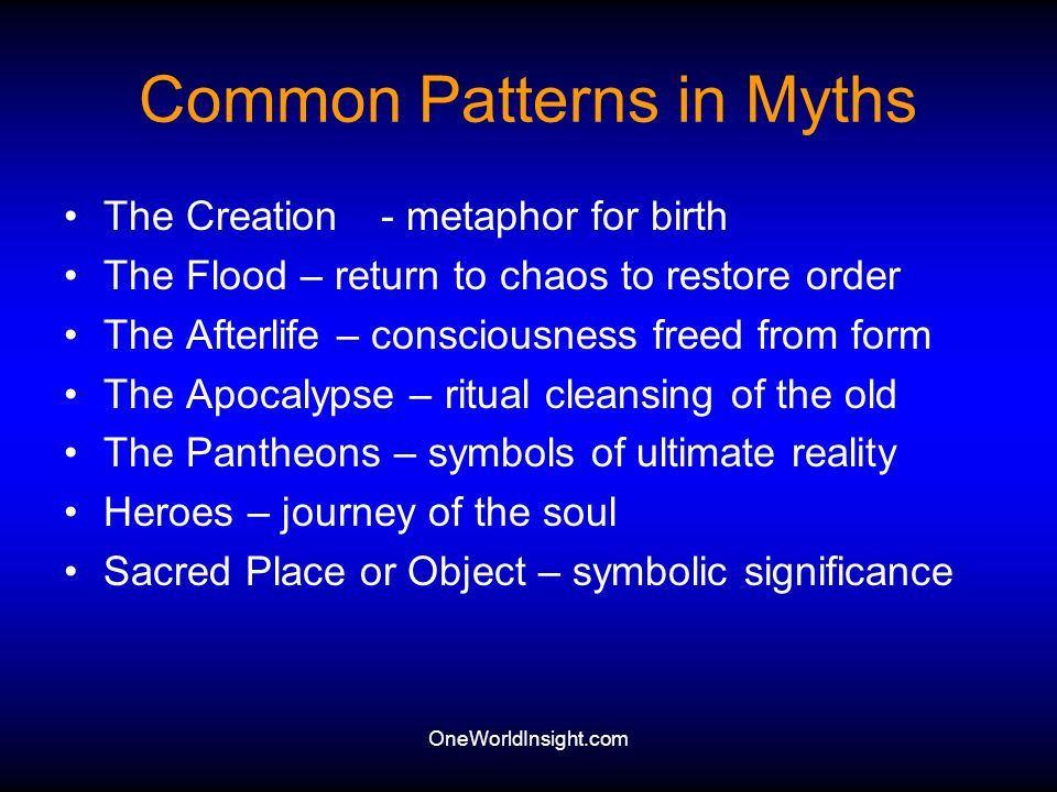 Common Patterns in Myths