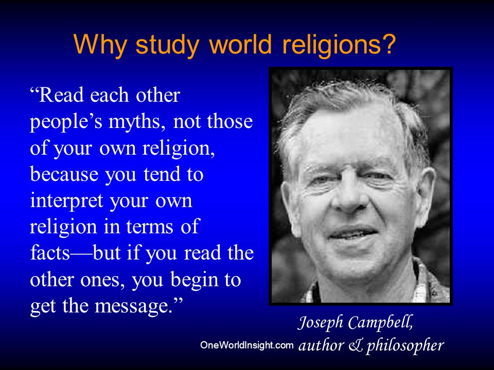 Why study world religions