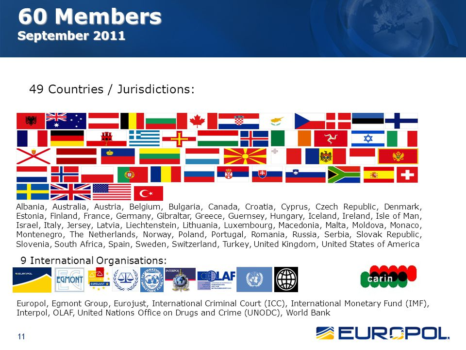 49 Countries / Jurisdictions: