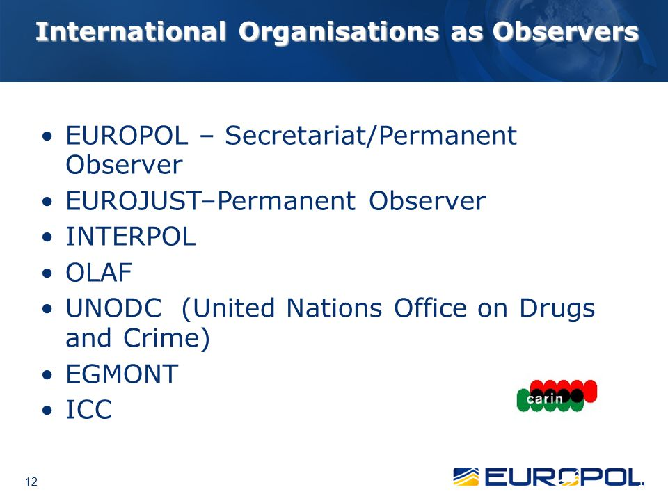 International Organisations as Observers