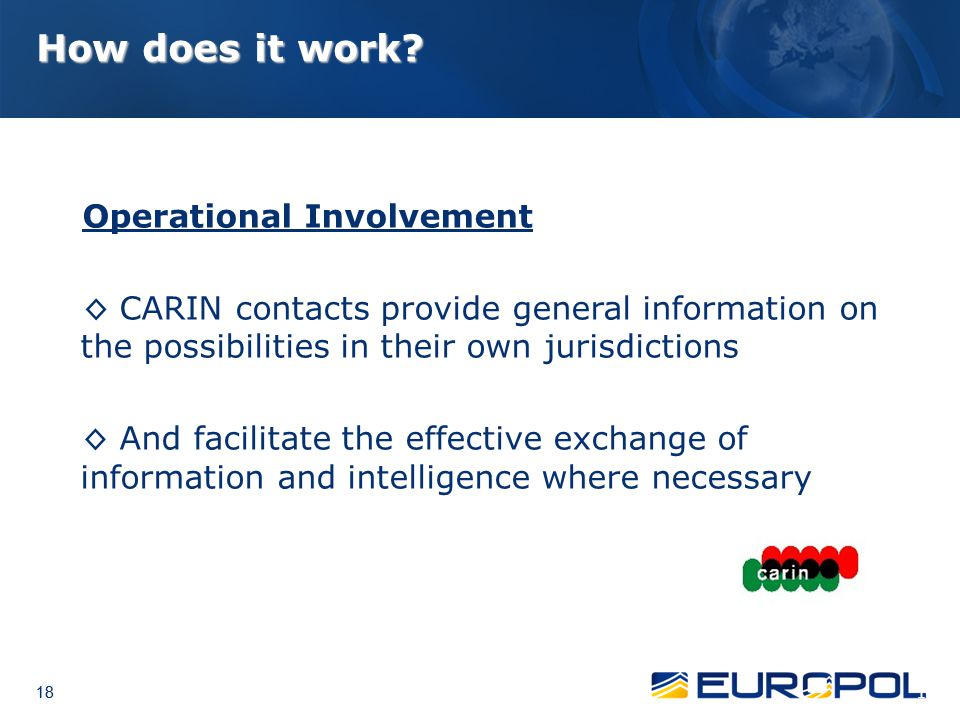 How does it work Operational Involvement