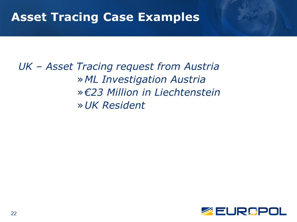 Asset Tracing Case Examples