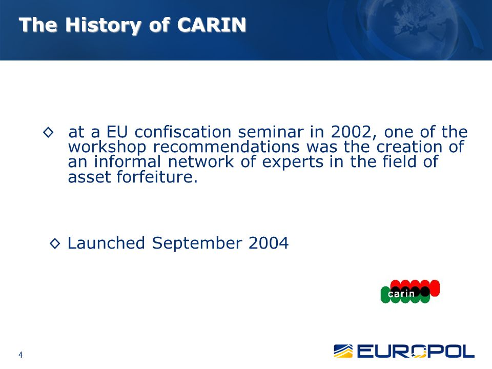 The History of CARIN