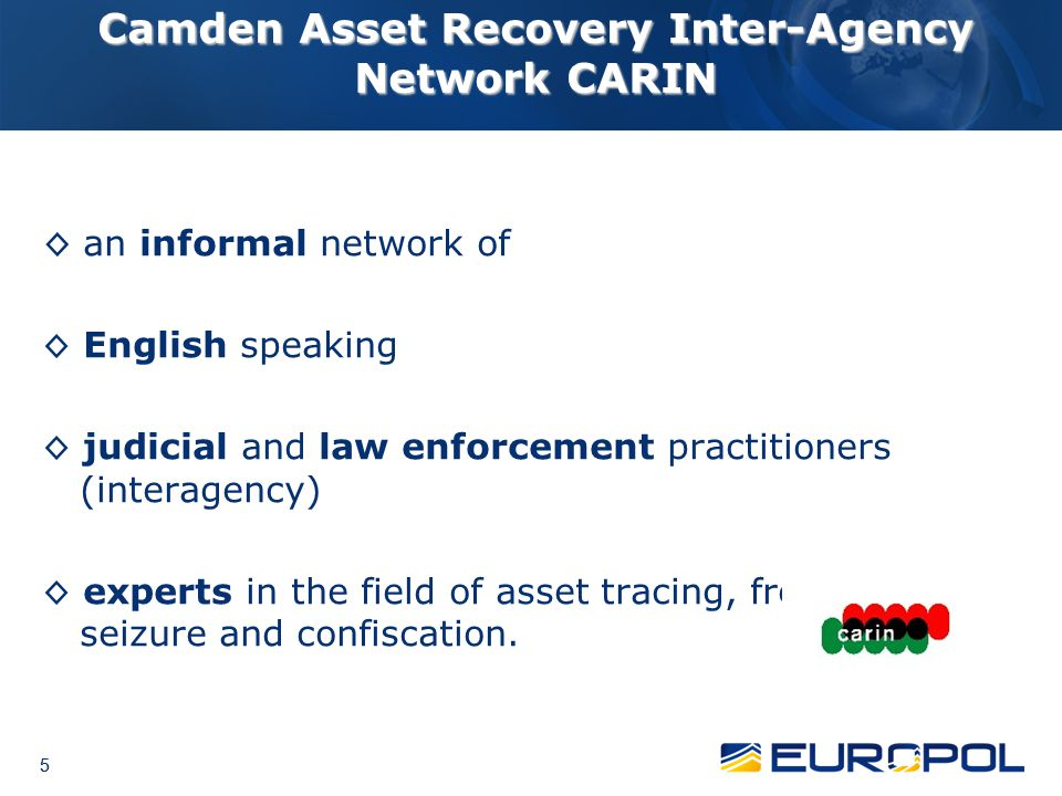 Camden Asset Recovery Inter-Agency Network CARIN
