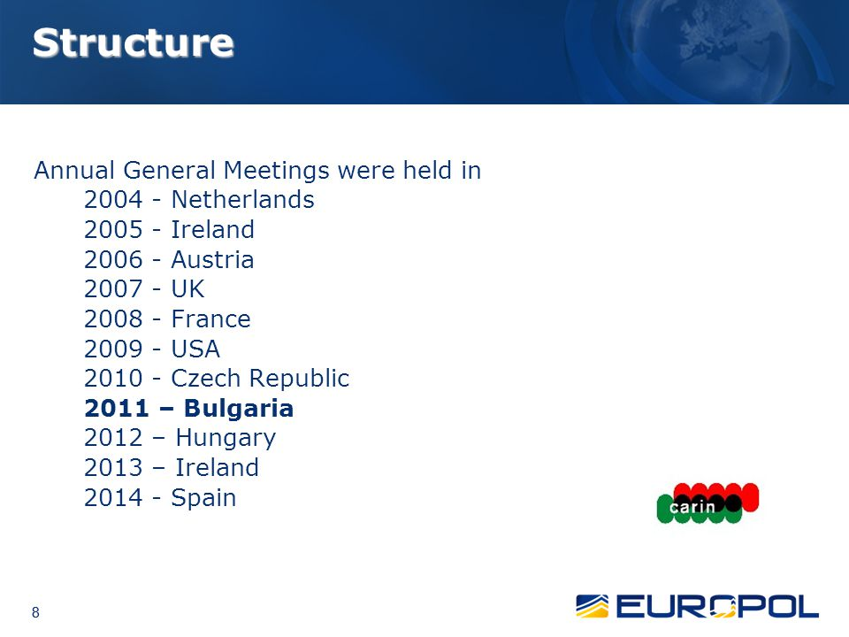 Structure Annual General Meetings were held in 2004 - Netherlands