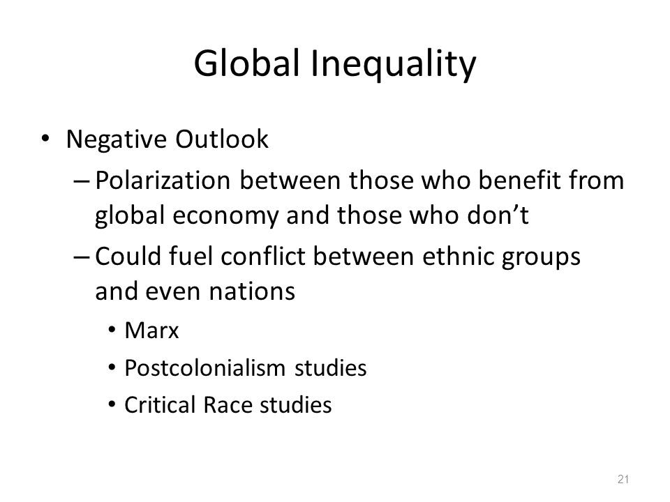Global Inequality Negative Outlook