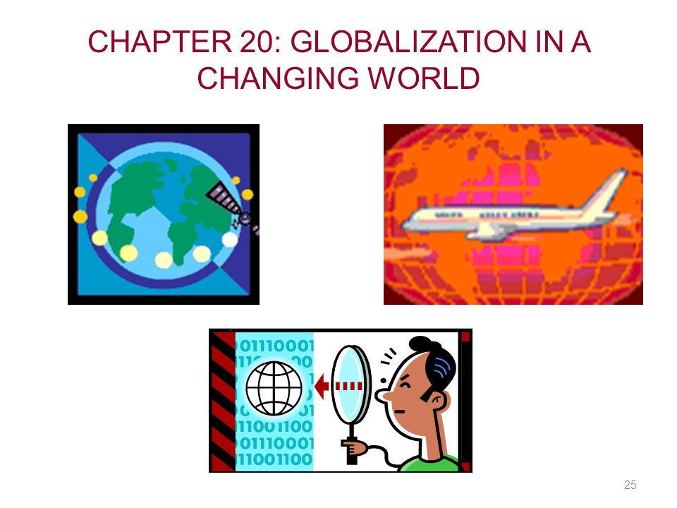 CHAPTER 20: GLOBALIZATION IN A CHANGING WORLD