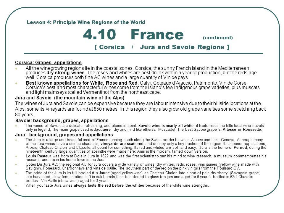 Corsica: Grapes, appellations