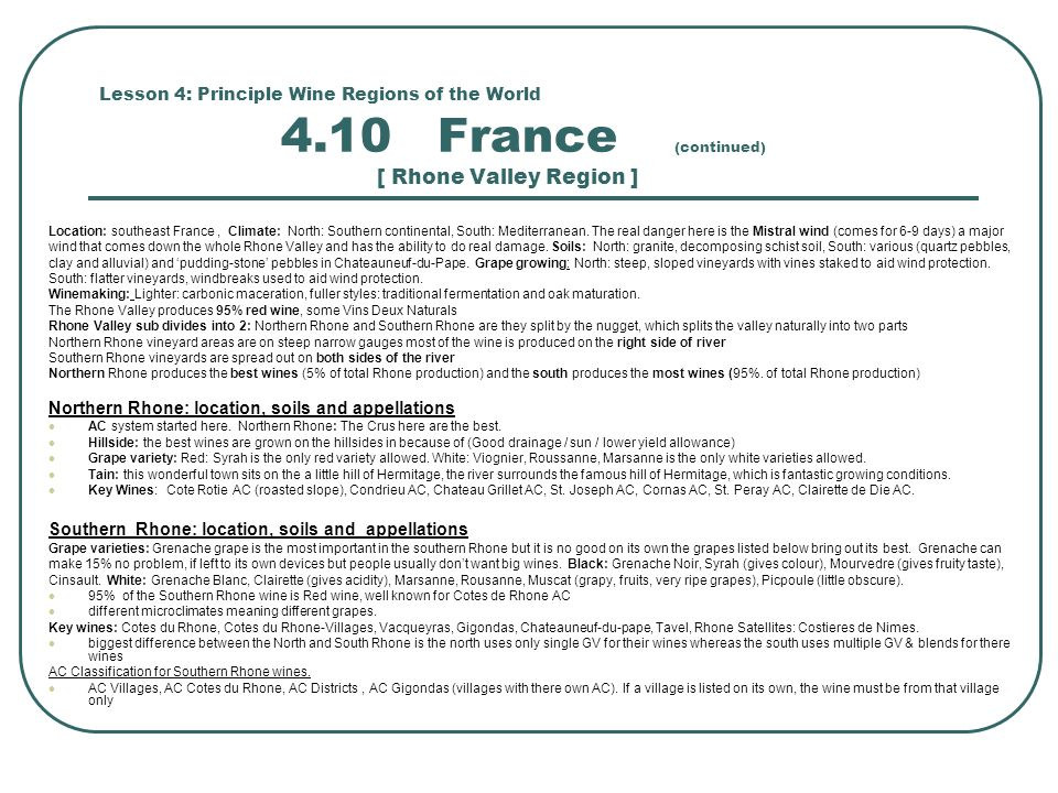 Northern Rhone: location, soils and appellations