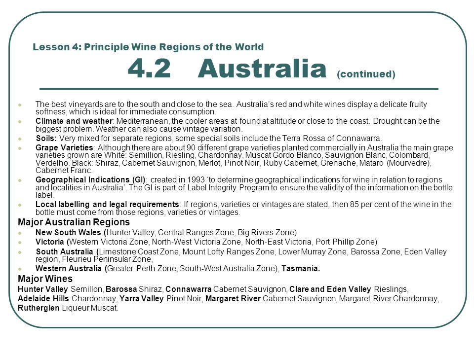 Major Australian Regions
