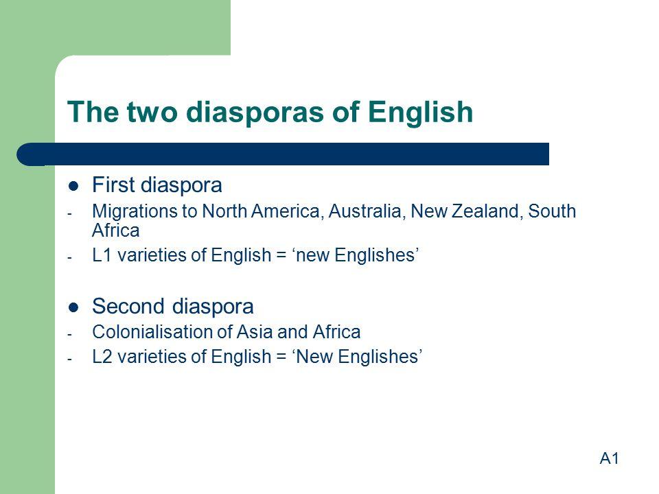 The two diasporas of English