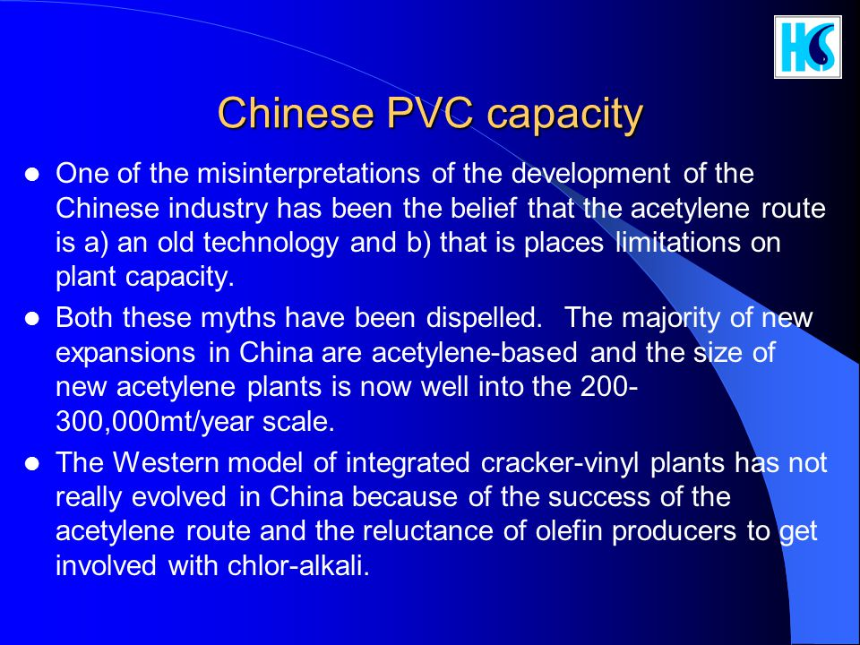 Chinese PVC capacity