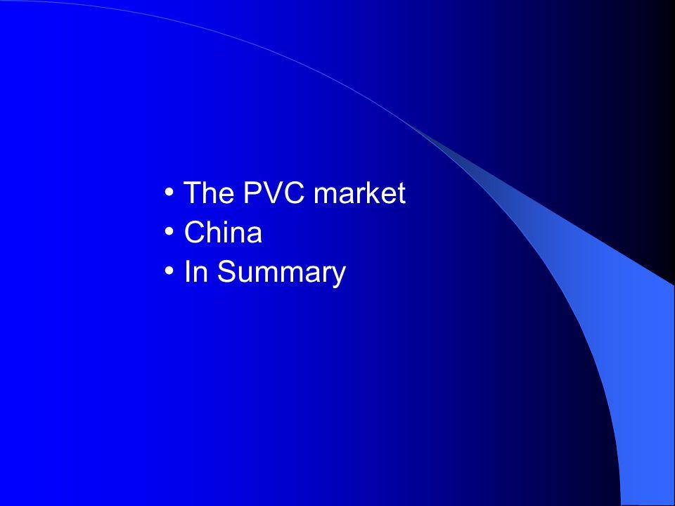 The PVC market China In Summary