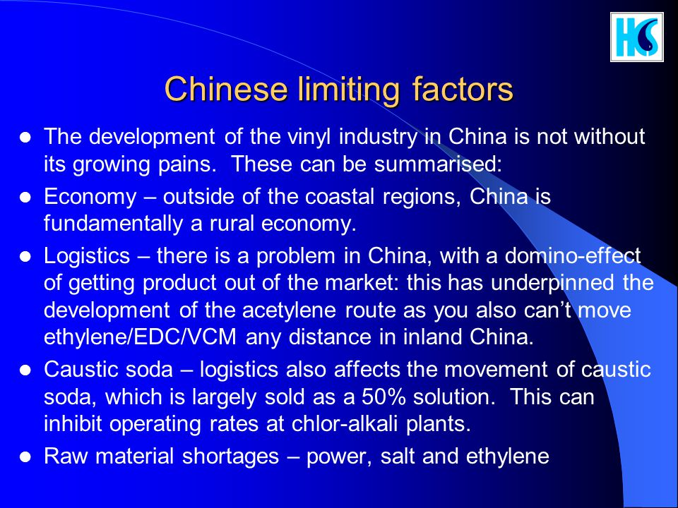 Chinese limiting factors