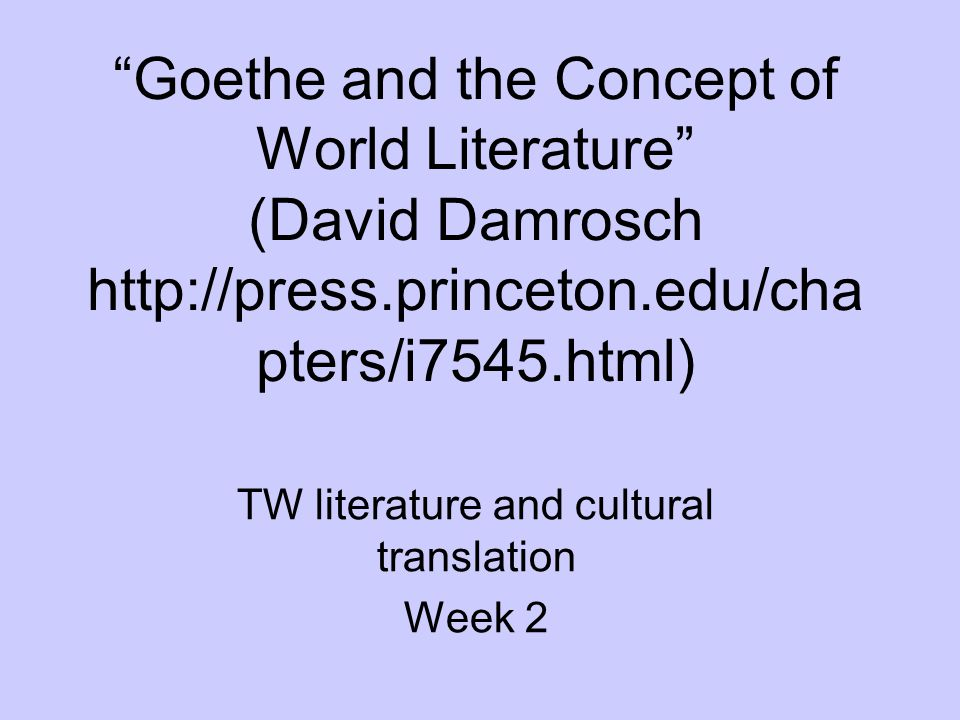 TW literature and cultural translation Week 2