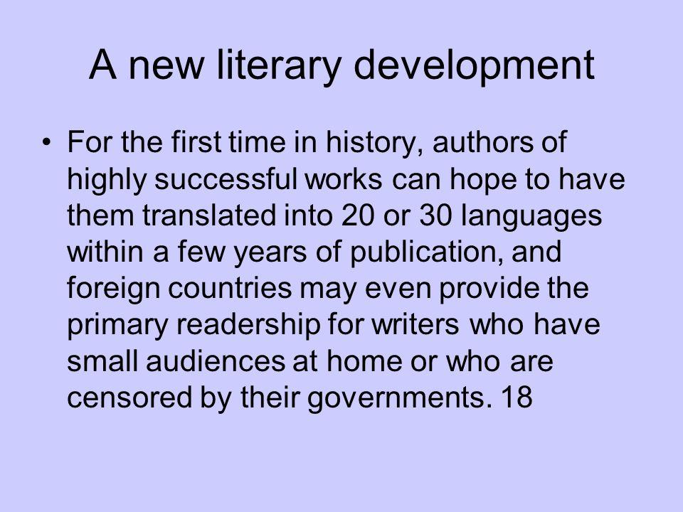 A new literary development