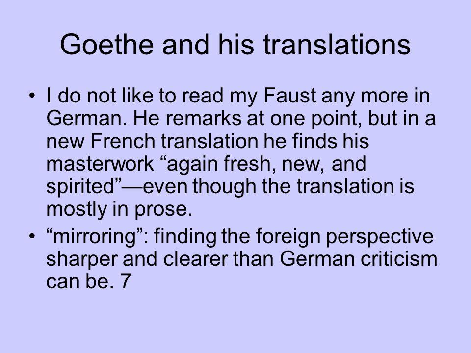 Goethe and his translations