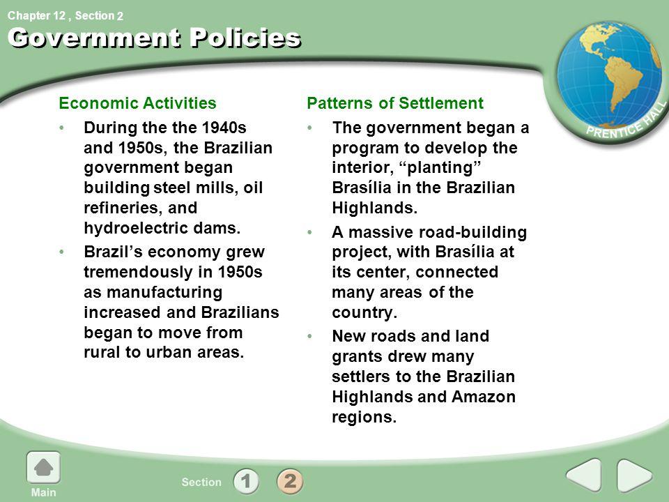 Government Policies Economic Activities