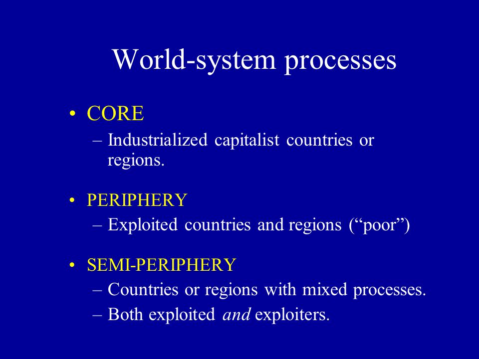World-system processes