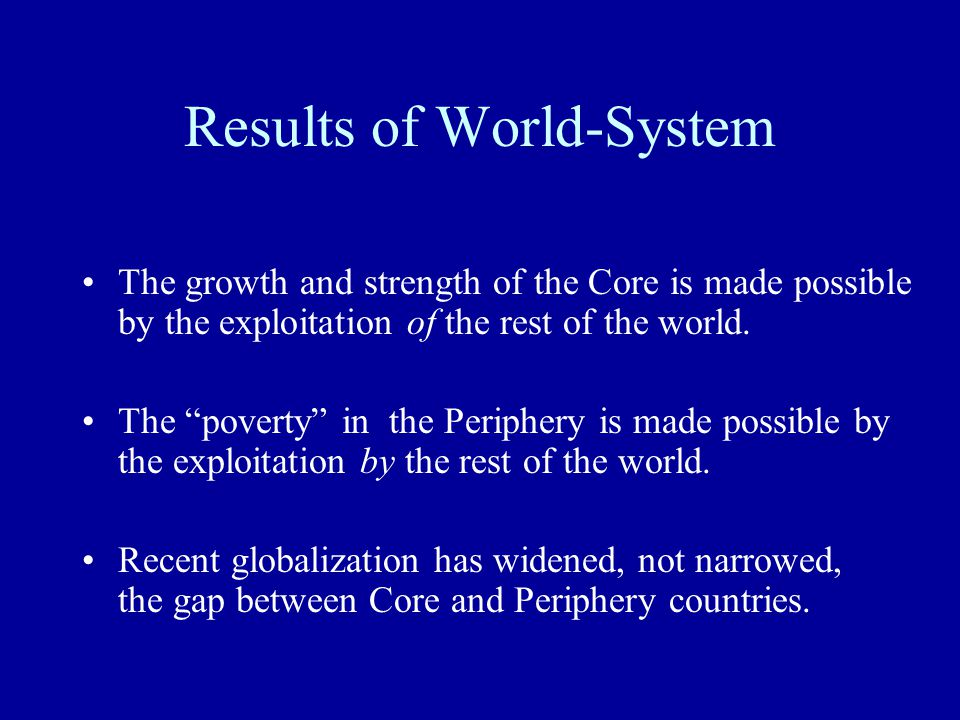 Results of World-System