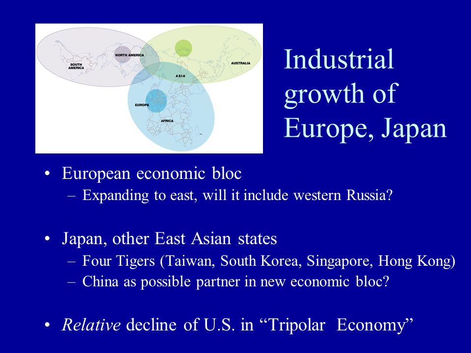Industrial growth of Europe, Japan