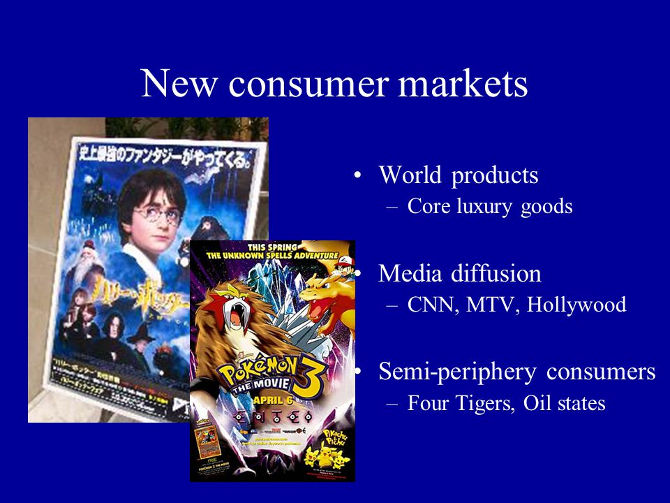 New consumer markets World products Media diffusion