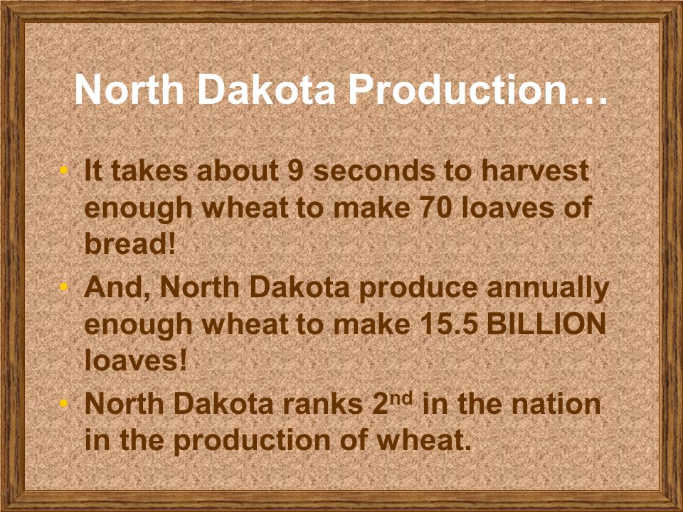 North Dakota Production…