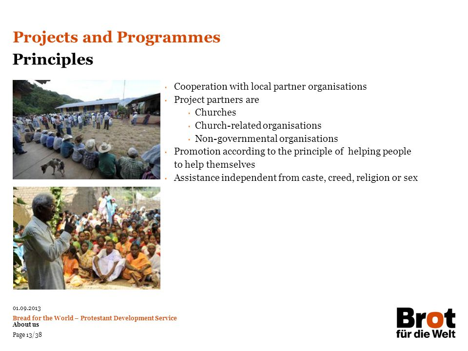 Projects and Programmes Principles