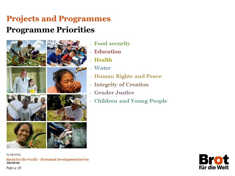 Projects and Programmes Programme Priorities