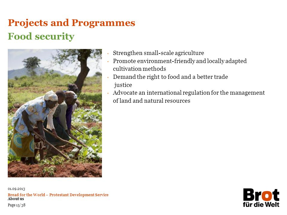 Projects and Programmes Food security