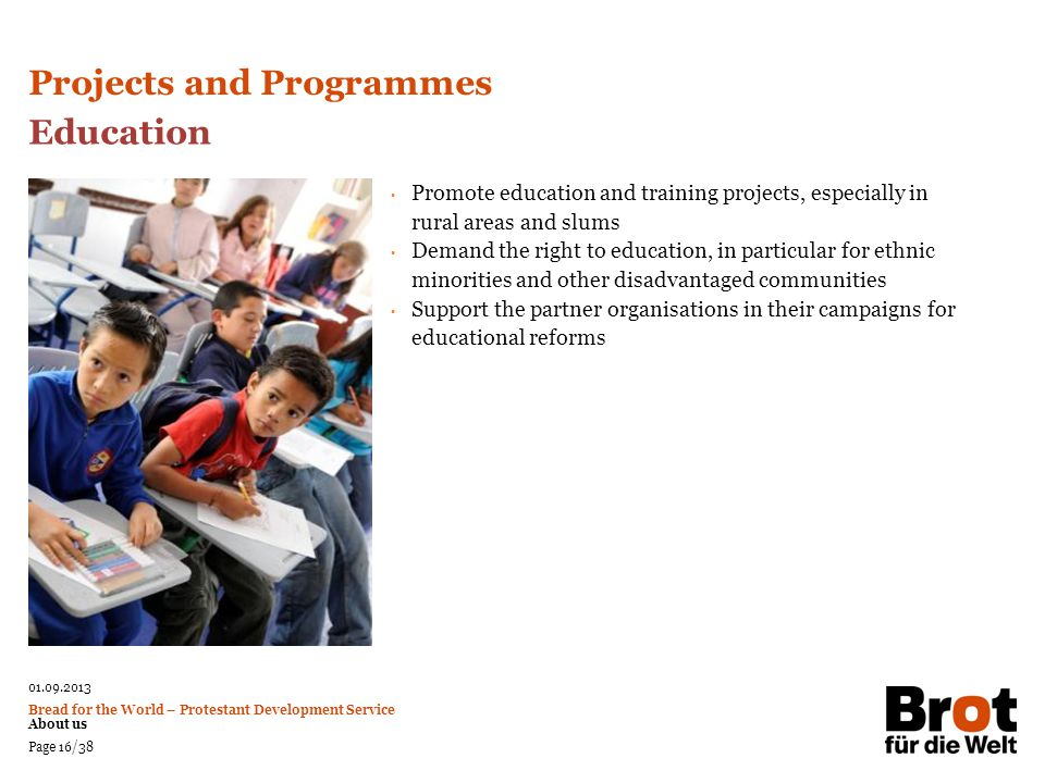 Projects and Programmes Education