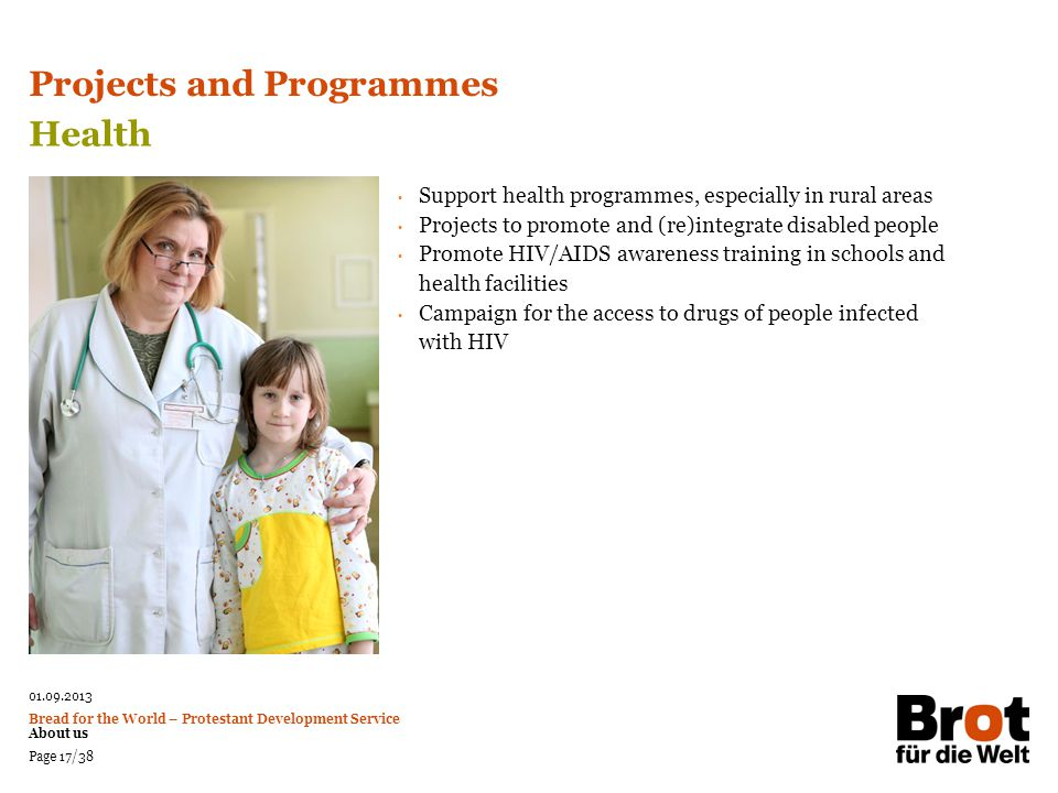 Projects and Programmes Health