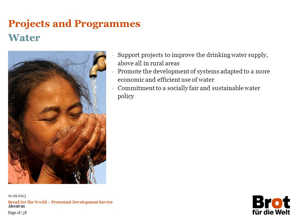 Projects and Programmes Water