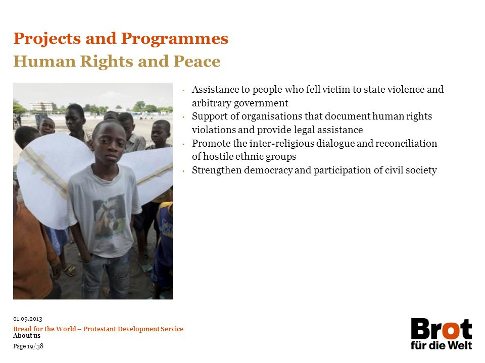 Projects and Programmes Human Rights and Peace