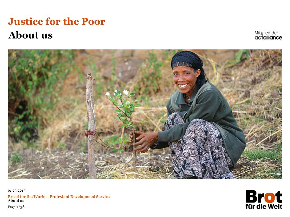 Justice for the Poor About us Photo: Christof Krackhardt