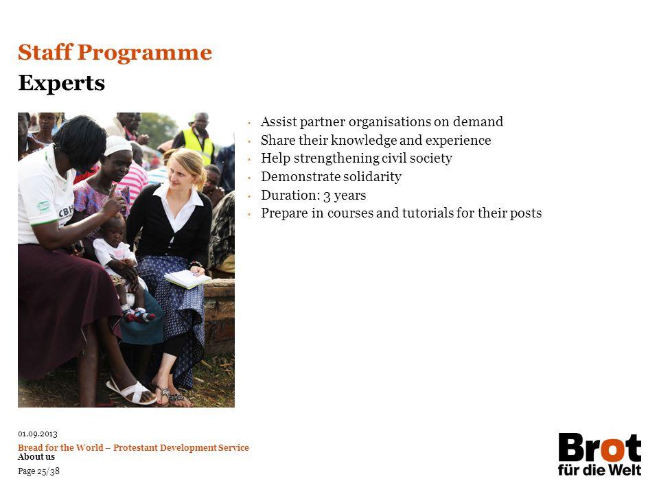 Staff Programme Experts Assist partner organisations on demand