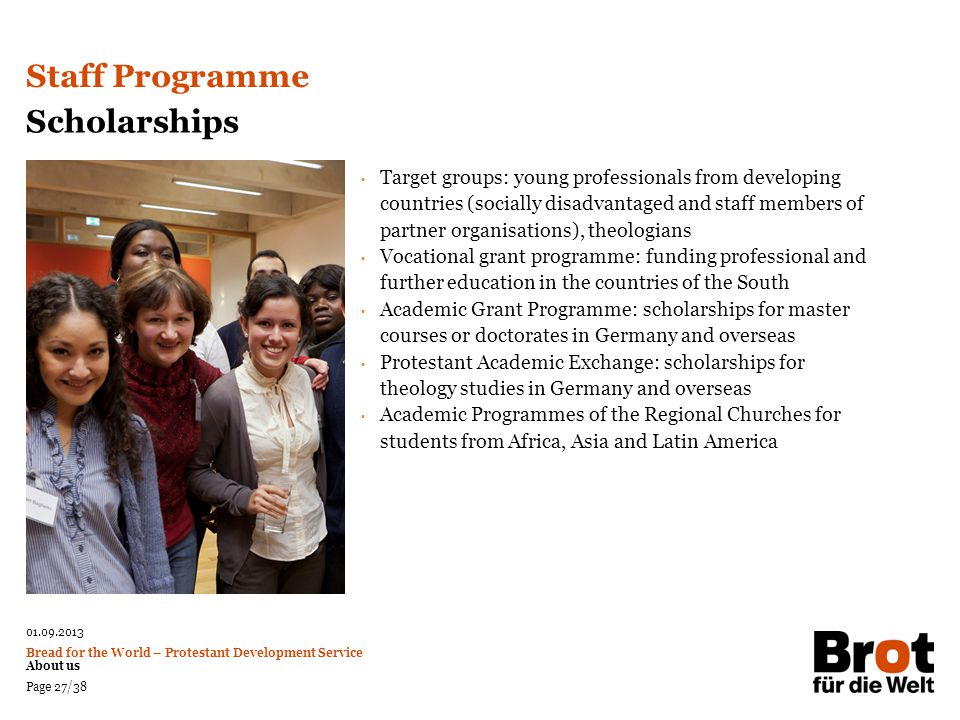 Staff Programme Scholarships