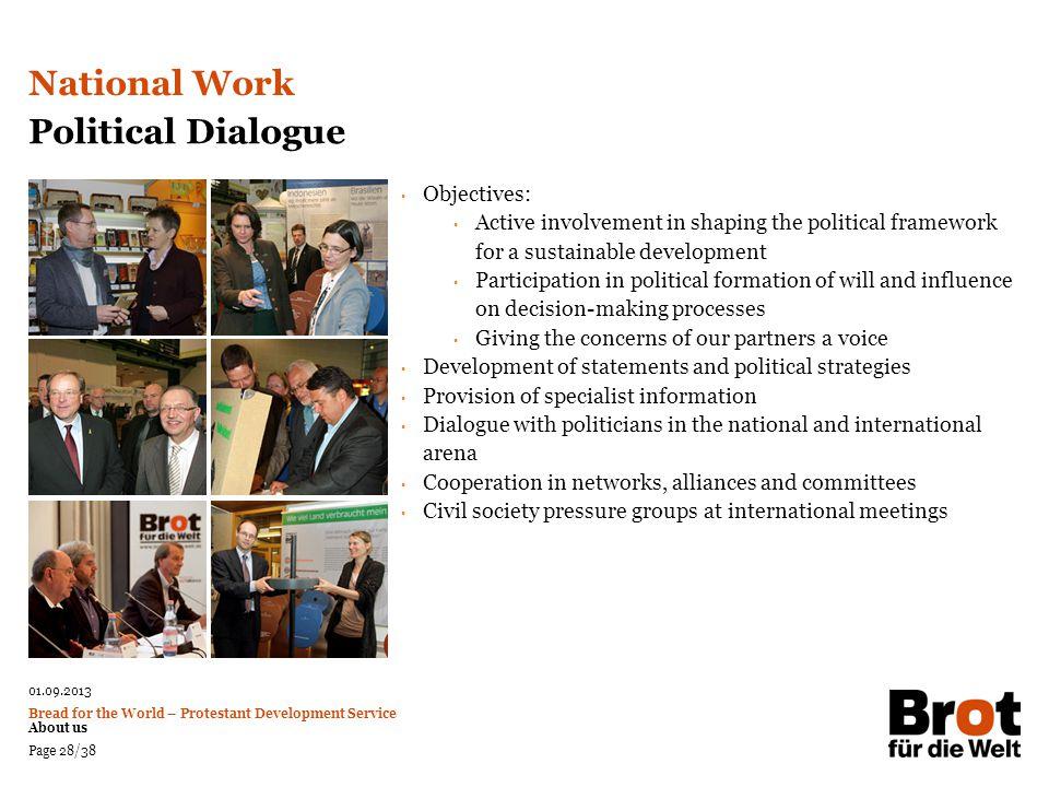 National Work Political Dialogue Objectives: