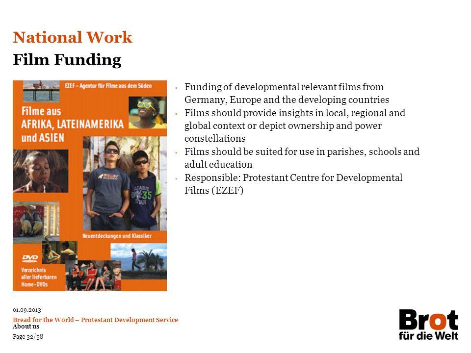 National Work Film Funding