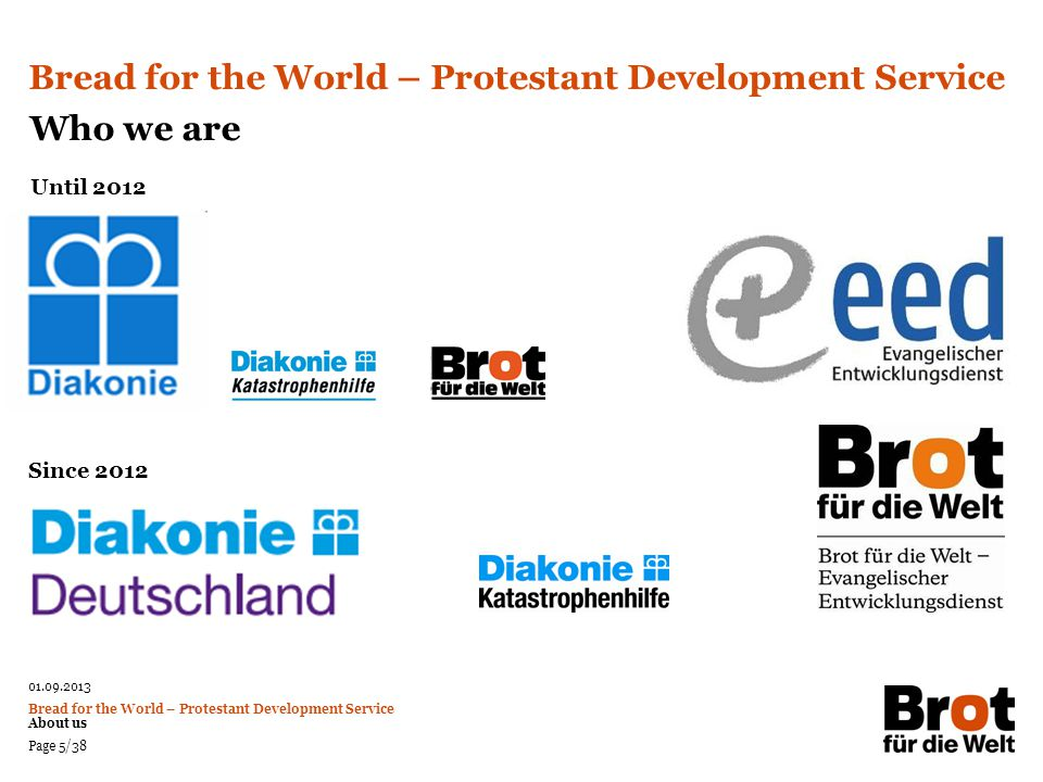 Bread for the World – Protestant Development Service Who we are