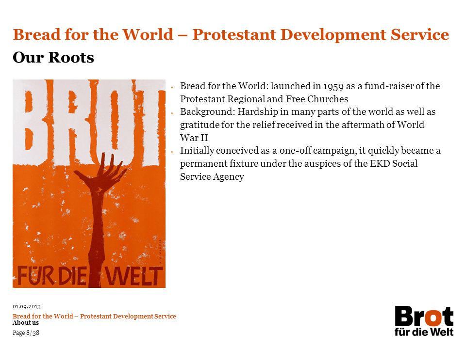 Bread for the World – Protestant Development Service Our Roots