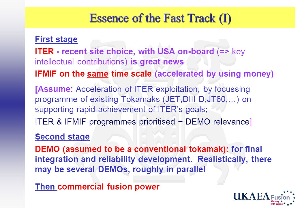 Essence of the Fast Track (I)