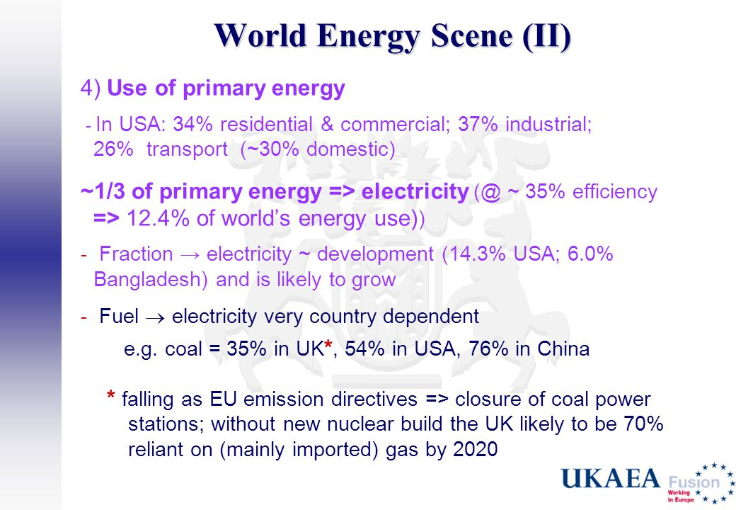 World Energy Scene (II)