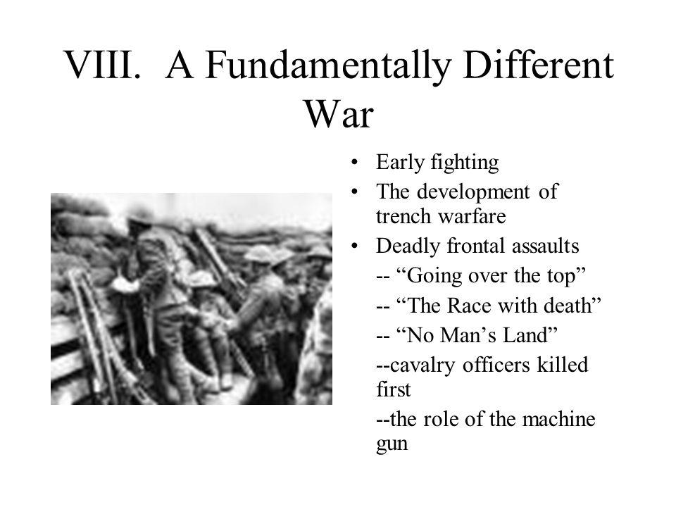 VIII. A Fundamentally Different War